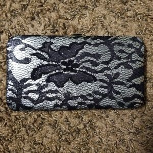 NWT Icing Black and Silver Lace wallet